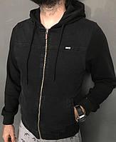 Куртки демисезон Бренд  Sijoh к-4 (рукав трикотаж) Мужской Черный арт.9790 S(р)