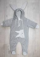Теплый комбинезон для новорожденных Зайчонок Lux+Видео, фото 3