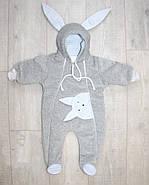 Теплый комбинезон для новорожденных Зайчонок Lux+Видео, фото 2