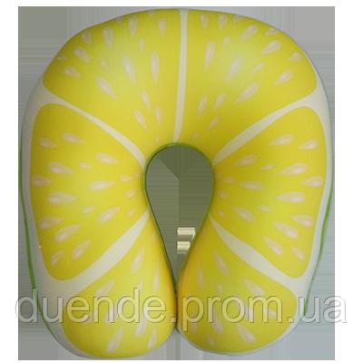 Подушка для шеи Турист Фрукты, полистерольные шарики антистресс 33*37 см / tp - 181102