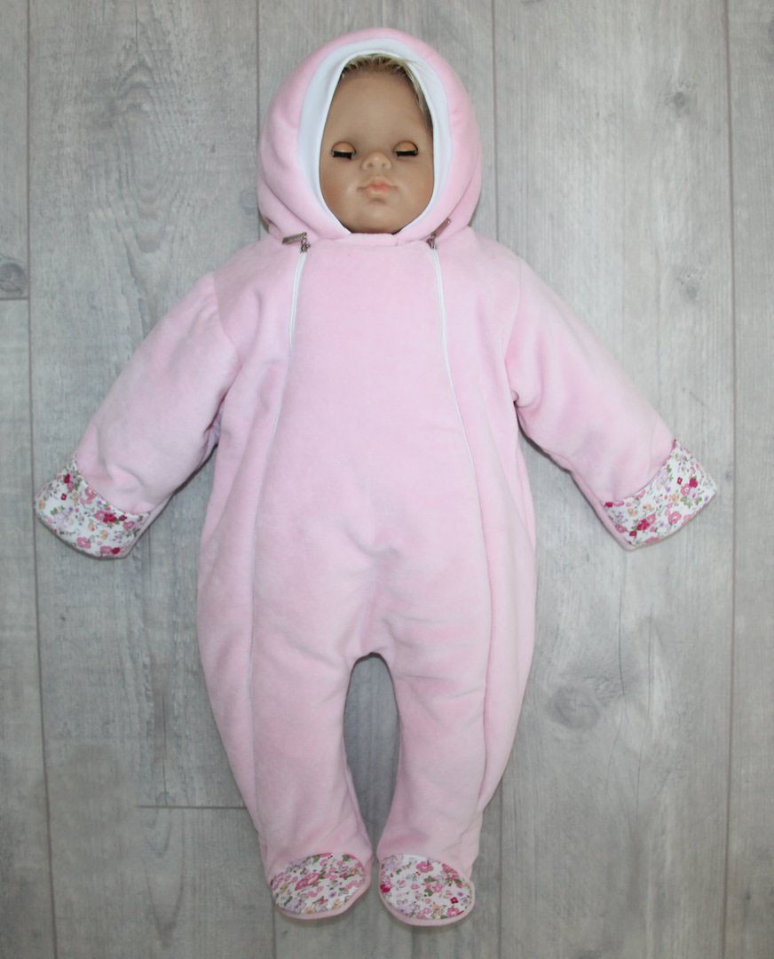 Теплый комбинезон для новорожденных Малыш LUX