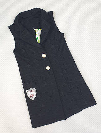 Стильный Кардиган для девочки 134-146  ЧЕРНЫЙ, фото 2