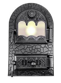 Дверцята для печі зі склом і регулюванням подачі повітря 102915