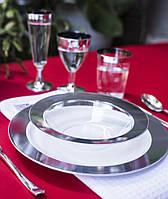 Тарелки одноразовые премиум, не гнутся  для детского праздника, дня рождения, кенди бара CFP 6 шт 260 мм, фото 1