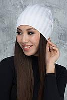 Белая шапочка с люрексом Дэнс