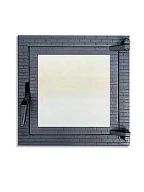 Топочная дверца для печи и камина со стеклом 400х400 мм, чугунная печная, каминная дверка 102873