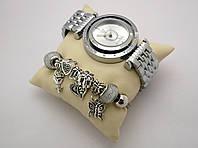 Часы женские Pandora в коробочке (браслет в подарок) - silver