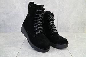 Женские ботинки замшевые зимние черные Dali 7z