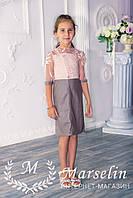 Детское платье эко-кожа