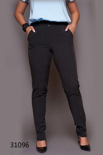 Классические женские брюки большого размера с карманами 48, 50, 52, 54