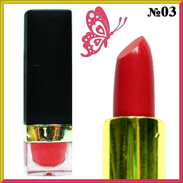 Красная Помада - Бальзам для Губ Увлажняющая Смягчающая Тон 03 Декоративная Косметика