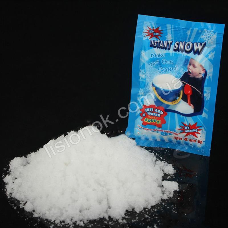 Искусственный снег, растущий в воде. Снег не токсичен и безопасен, Instatnt snow