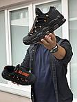 Мужские кроссовки Nike Air More Money (черно-оранжевые), фото 2