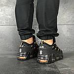 Мужские кроссовки Nike Air More Money (черно-оранжевые), фото 6