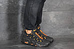 Мужские кроссовки Nike Air More Money (черно-оранжевые), фото 5