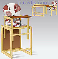 Стул для кормления деревянный 2 в 1 трансформер Абстракция