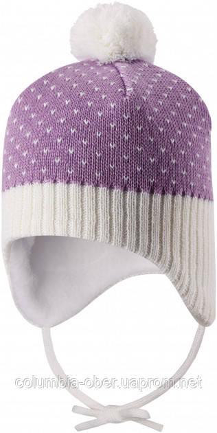 Зимняя шапка-бини для девочки Lassie by Reima Ninne 718770-5091. Размеры 38/40 - 50/52.
