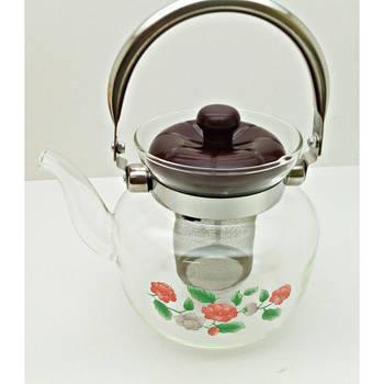 Стеклянный чайник-заварник A-Plus TK-1041 1,4 литра
