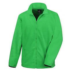 Мужская флисовая кофта на молнии зеленая 220-47