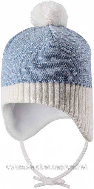 Зимняя шапка-бини для мальчика Lassie by Reima Ninne 718770-6121. Размеры 38/40 - 50/52.