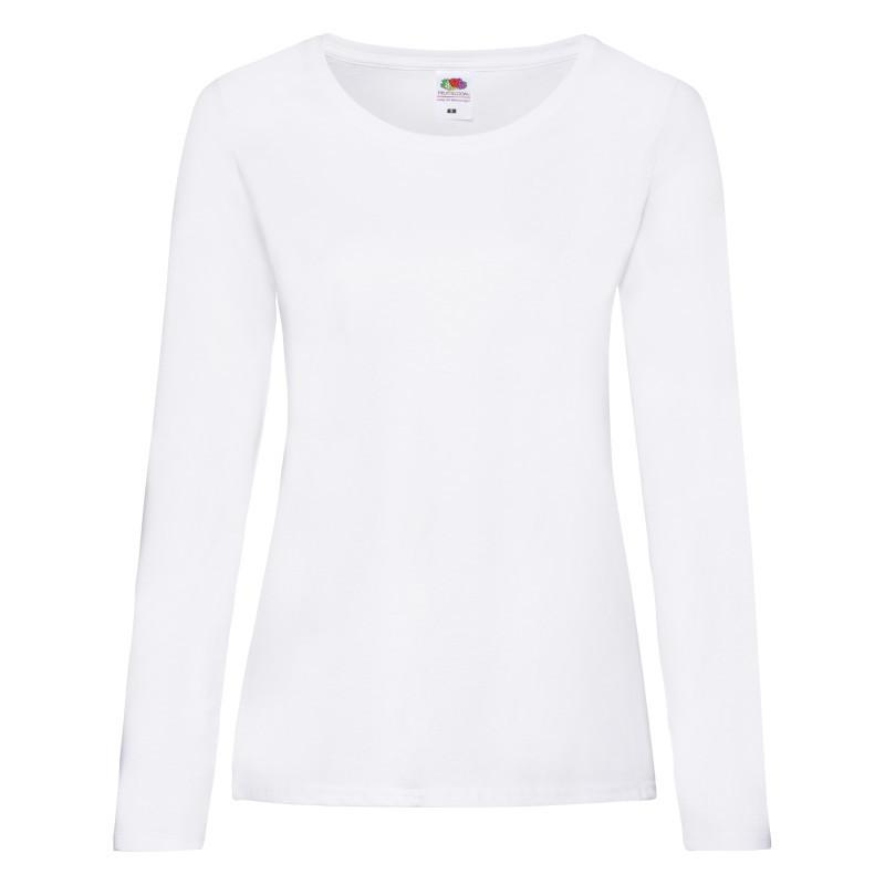Женская футболка Lady Fit Valueweight Long Sleeve T (Цвет: Белый; Размер: 2XL)