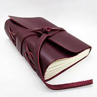 Блокнот кожаный, ручная работа Comfy Strap, натуральная кожа Crazy Horse Бордо