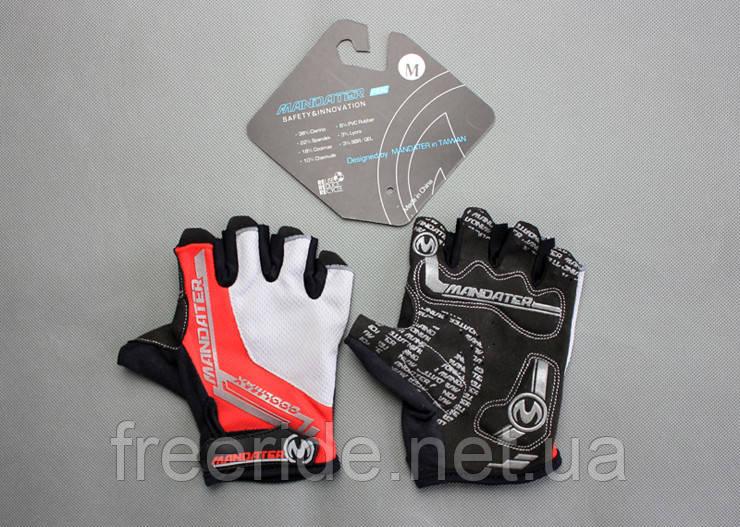 Велоперчатки беспалые Mandater RX Glove (красные) L