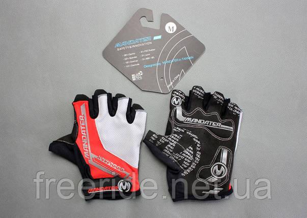 Велоперчатки беспалые Mandater RX Glove (красные) L, фото 2