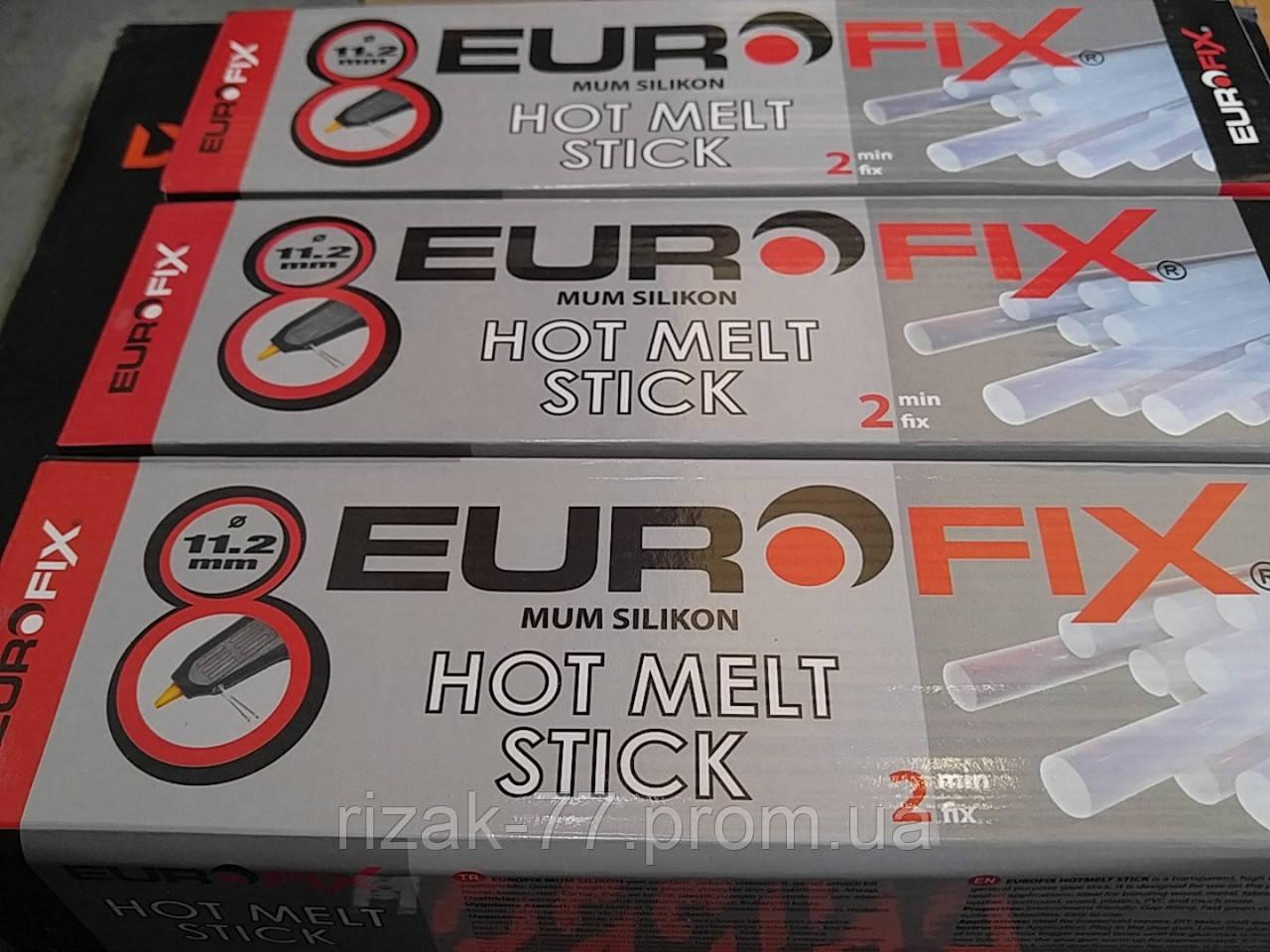 Клеевые термо-стержни EUROFIX. 11.2 мм.×300 мм. прозрачные, для клеевых пистолетов. про-во Турция