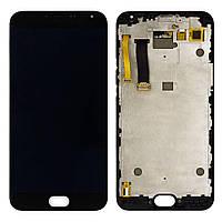 Дисплейный модуль Meizu MX5 (M575) (Black) в рамке