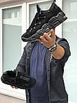 Мужские кроссовки Nike Air More Money (черные), фото 6