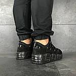 Мужские кроссовки Nike Air More Money (черные), фото 5