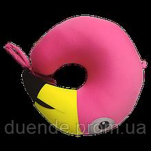 Подушка детская дорожная рогалик антистресс, полистерольные шарики 30*28 см / tp - 180519