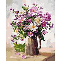 Картина по номерам на холсте Садовый букет, KHO3052
