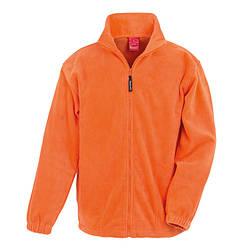 Мужская плотная флисовая кофта на молнии оранжевая 0360-44