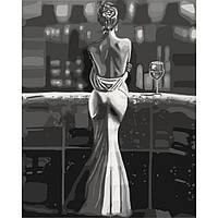 Картина по номерам на холсте Созерцая город, KHO4611