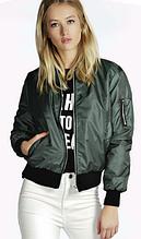 Куртка бомбер женская (зеленая)