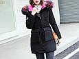 Куртка парка на пуху (черная с розовым подкладом). Оригинал., фото 2
