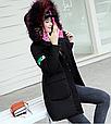 Куртка парка на пуху (черная с розовым подкладом). Оригинал., фото 4