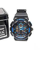 Двойные электронно-кварцевые часы K-SPORT Adjust Черные (KS75033BL)