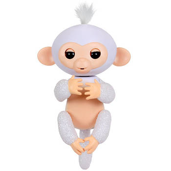 Умная игрушка обезьянка Fingerlings Happy Monkey White (004480)
