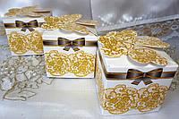 Элегантные бонбоньерки на свадьбу