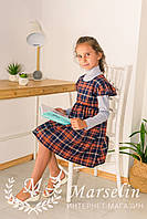 Платье-сарафан для девочки в Клетку
