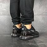 Чоловічі кросівки Nike Air Max 270 (чорні), фото 6