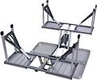 Алюминиевый стол для пикника раскладной со 4 стульями Folding Table 85х67х67 см (Синий), фото 7