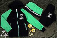 Подростковый трикотажный спорт костюм+сумка  р.98, 110, 122, бирюза