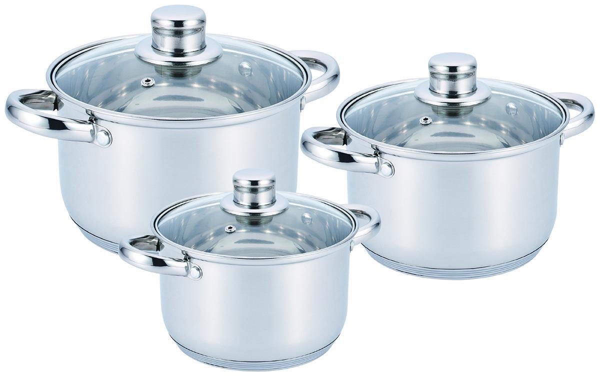 Набор посуды кастрюль из 6 предметов Benson BN 205 (006626)