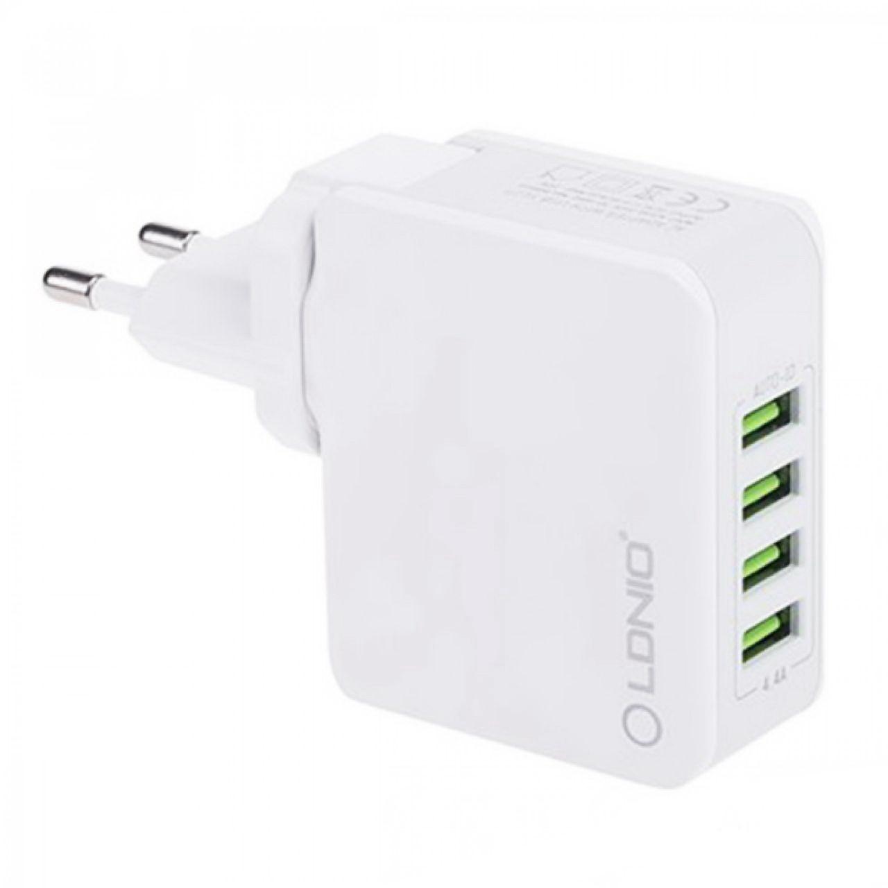 Сетевое зарядное устройство Ldnio A4403 (4USB 4.4A) White