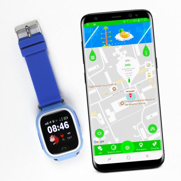 Детские умные смарт часы-телефон с GPS трекером Smart Baby Watch Q100 (q90s) Blue