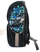 Школьный каркасный рюкзак Extreme для мальчиков черный с синим + пенал 2в1, фото 2